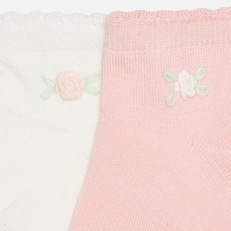 Σετ 2 καλτσες λουλουδια Mayoral 1710232 - ροζ