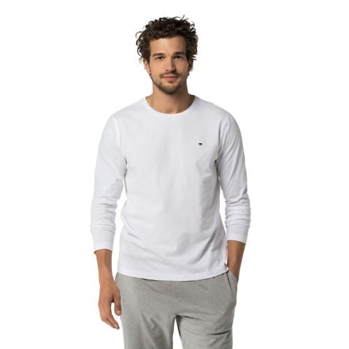 T-shirt με μακρύ μανίκι Tommy Hilfiger 2S87904672 -λευκό Ανδρικά