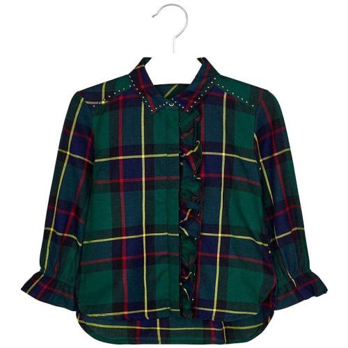 Μπλουζα καρο Mayoral 19-04106 - πρασινο Παιδικά