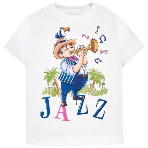 """Μπλουζα κοντομ """"jazz"""" Mayoral 29-01027 - κρεμ Παιδικά"""