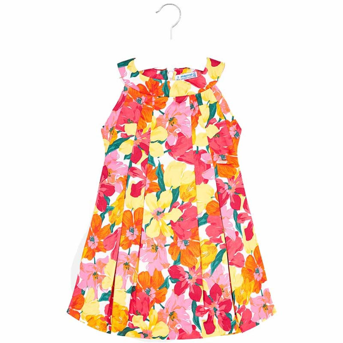642f9958a3b Φορεμα σταμπωτο λουλουδια Mayoral 29-03925 - κοραλι Παιδικά