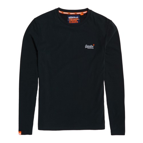T-shirt L/s Vintage Embroidery Superdry M60002NS - μπλε Ανδρικά