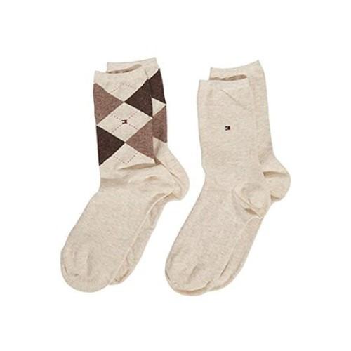 Κάλτσες 2 ζευγάρια Ρόμβοι Tommy Hilfiger 443016001 - μπεζ Γυναικεία