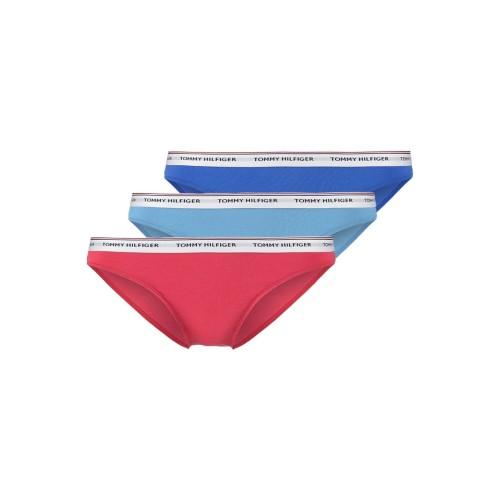 Slip 3 pack Tommy Hilfiger UW0UW00043 - κόκκινο-μπλέ ρουά-γαλάζιο
