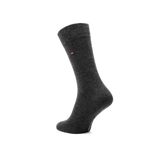 Κάλτσες 2 τεμάχια Basic Tommy Hilfiger 371111 - ανθρακίτης μελανζέ Ανδρικά