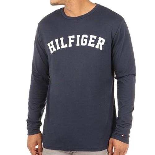 T-shirt μακρύ μανίκι Logo Tommy Hilfiger UM0UM00292 - μπλε Ανδρικά