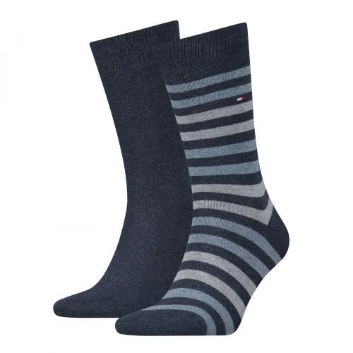 Κάλτσες 2 τεμάχια ρίγα Tommy Hilfiger 472001001 - jeans Ανδρικά