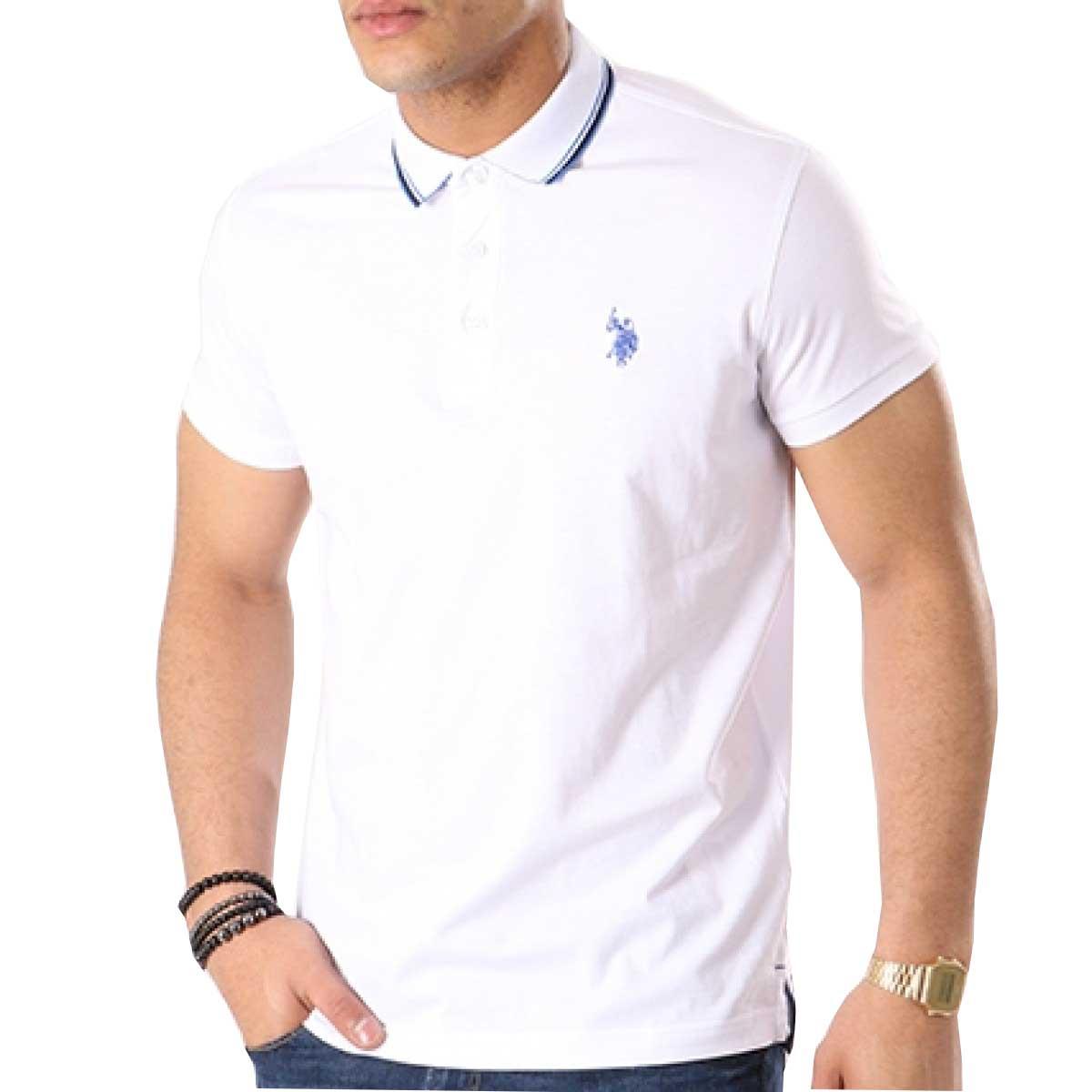92a11e85ef8b -20% T-shirt Double Horse Polo U.S. Polo Assn. 45174-50313 - λευκό Ανδρικά